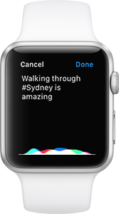 Realifex for Apple Watch - Dictation